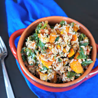 Vegan Butternut Squash Rice Bowl.
