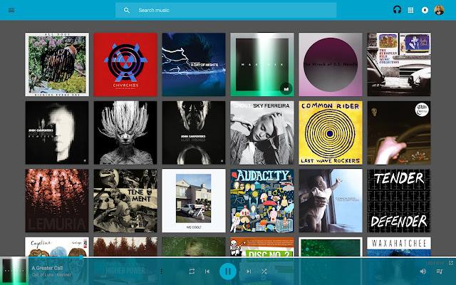 Dark Tiles Theme for Google Play Music