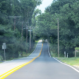 Never ending road by Maricor Bayotas-Brizzi - Transportation Roads (  )