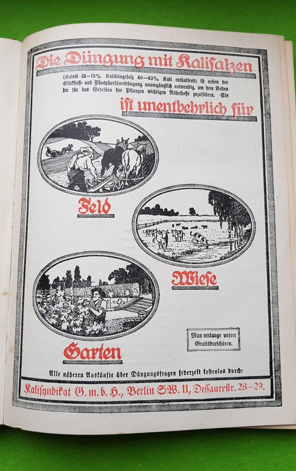 Großer Volkskalender des Lahrer hinkenden Boten - 1914 - Düngerwerbung