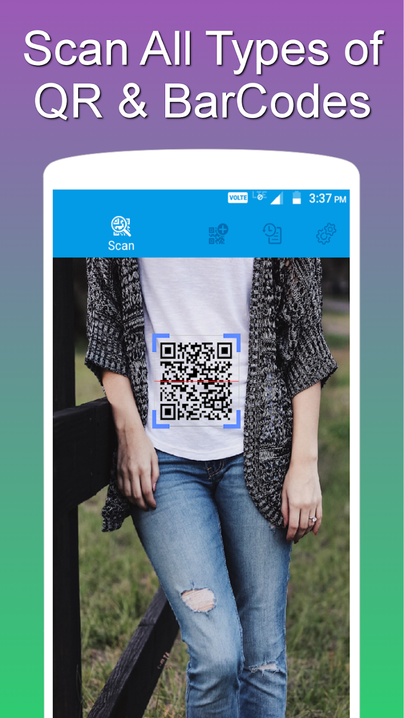 QR and Barcode Scanner PRO Screenshot 1