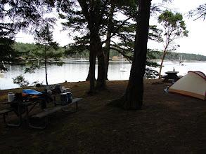 Photo: Prevost Harbor camp on Stuart Island.