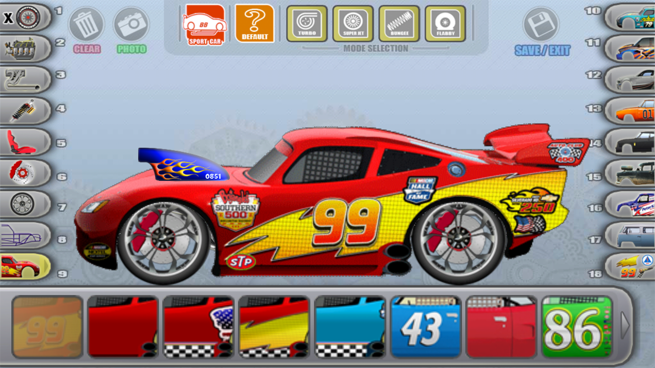 racing cars builder screenshot