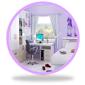 Children bedroom design icon