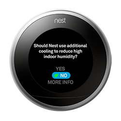 Nest thermostat cool to dry