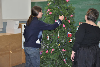 Photo: After we read all the poems it was time to take down our decorations.