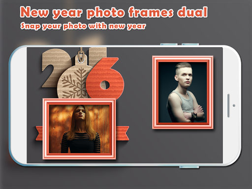 New Year Eve Photo Frame Dual