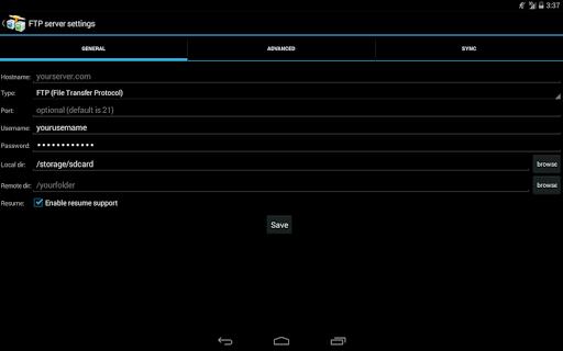 AndFTP screenshot 10