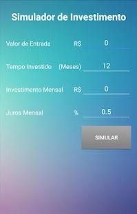 Simulador de Investimentos - náhled