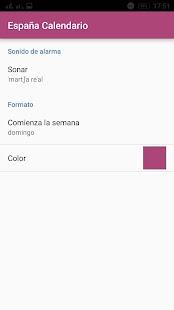 Calendario Español - náhled