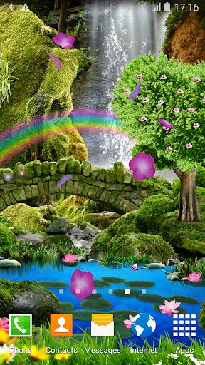Waterfall Romantic Wallpaper