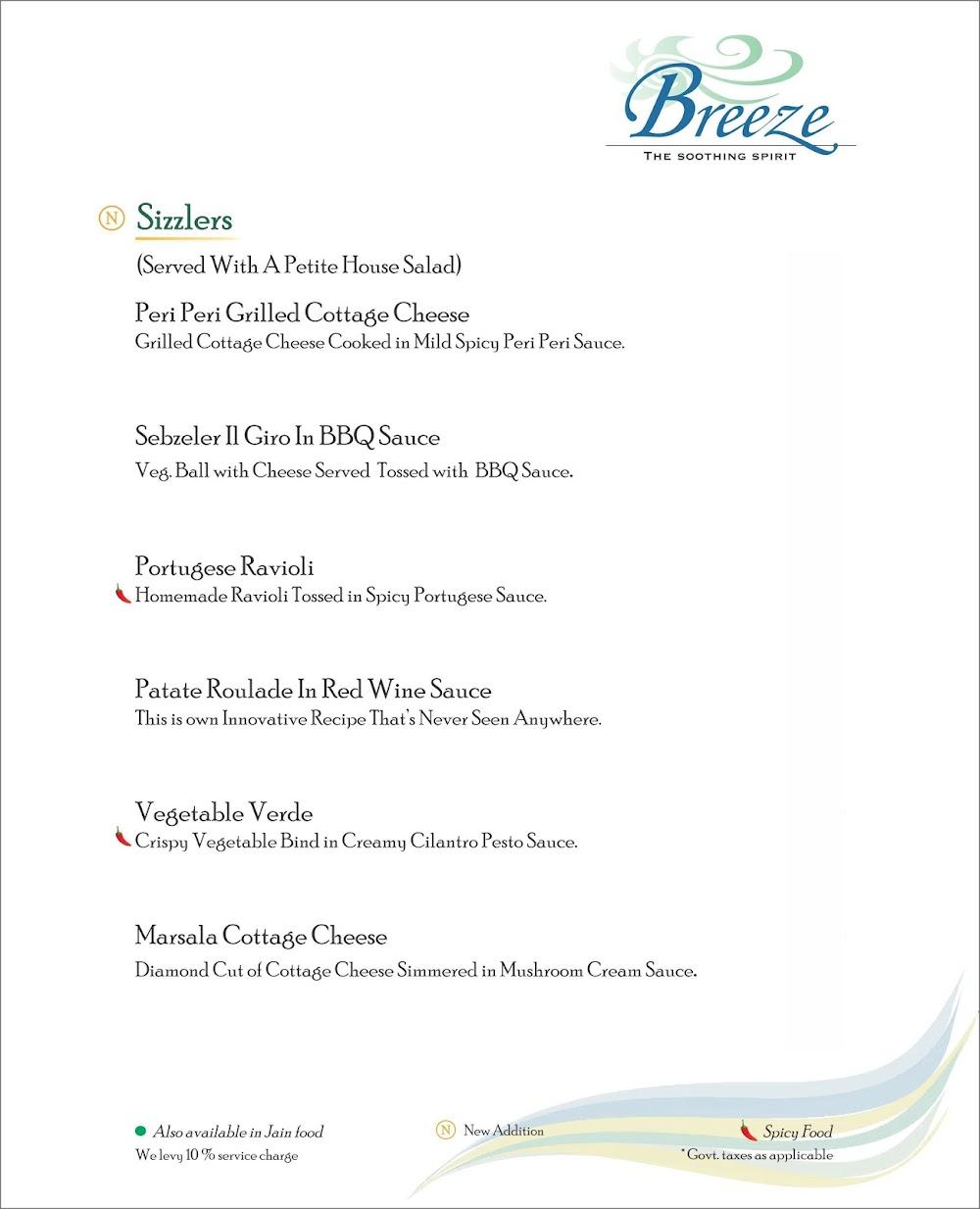 Breeze Lounge menu 10