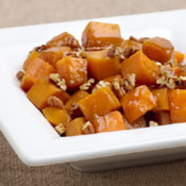 Butternut Squash With Pecans And Maple Syrup Recipe