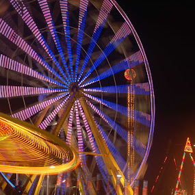 by Justin Dart - Abstract Fine Art ( the x, toronto, night, canadian national exhibition, fair )