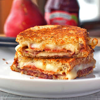 Bacon, Pear, and Raspberry Grilled Cheese.