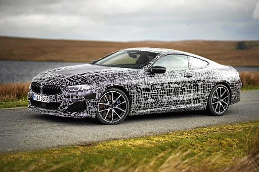 BMW has been testing prototypes of the M850i xDrive in Wales