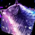 Starry Wolf Keyboard Theme