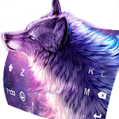Starry Wolf Delicate Keyboard Theme
