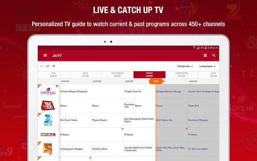 Android/PC/Windows 용 JioTV Live Sports Movies Shows 앱 (apk) 무료 다운로드 screenshot