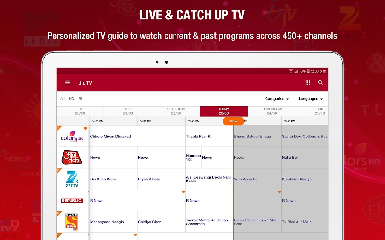 JioTV - Live TV & Catch-Up screenshots