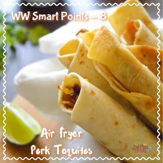 Air Fryer Pork Taquitos Recipe – Weight Watchers Smart Points – 8.