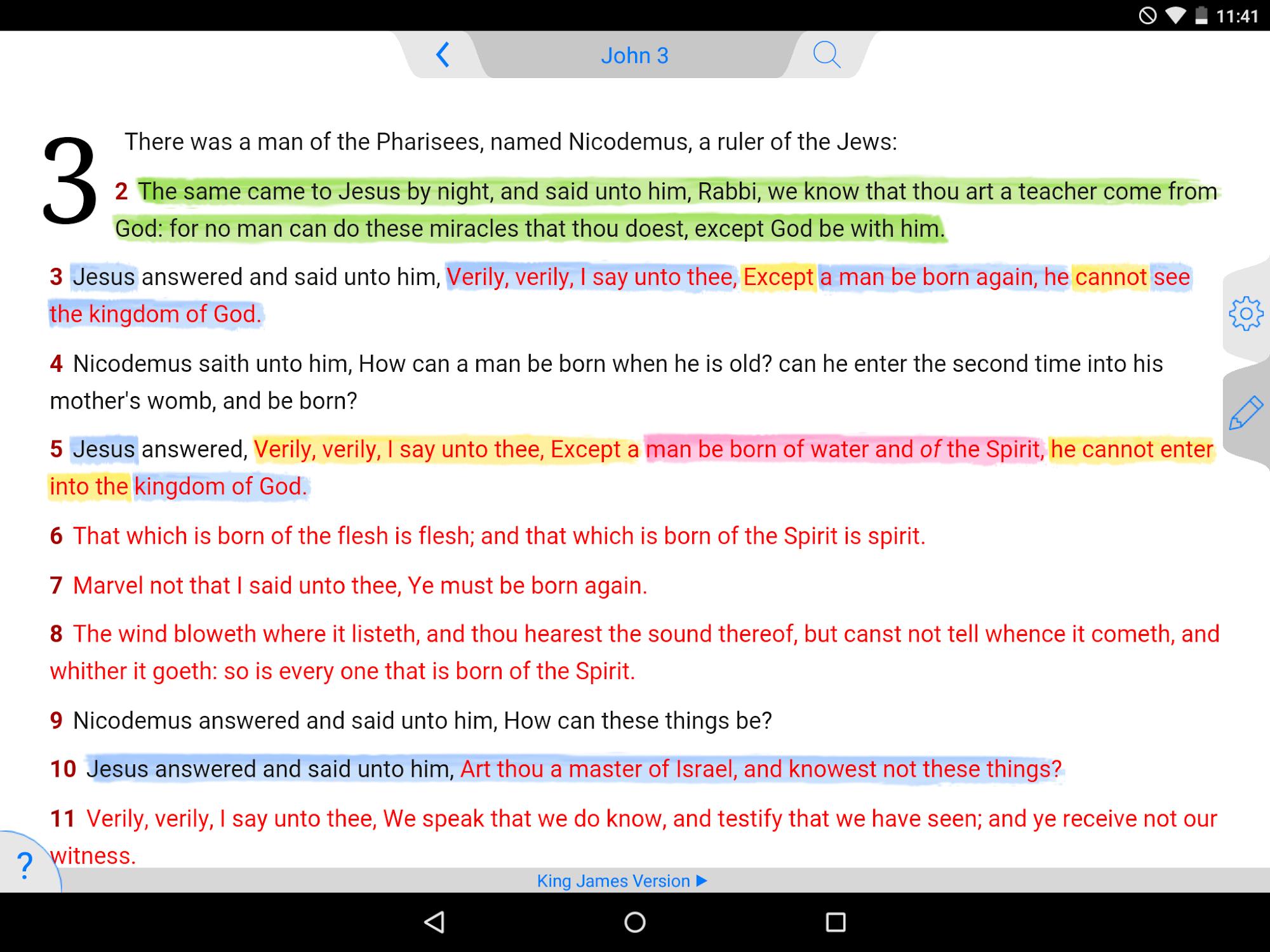 NKJV Bible screenshot #9
