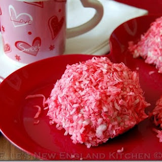 Red Velvet Raspberry Snowballs