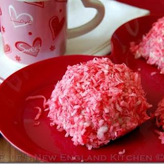 Red Velvet Raspberry Snowballs.