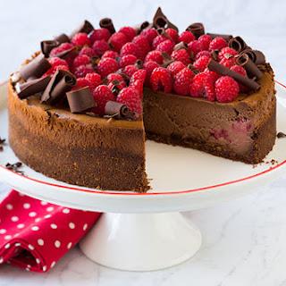 Chocolate Raspberry Cheesecake.