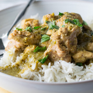 Instant Pot Thai Green Chicken Curry.