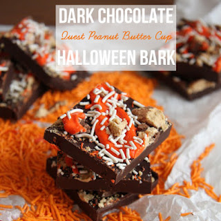Dark Chocolate Quest Peanut Butter Cup Halloween Bark