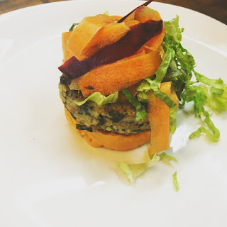 A Delicious Millet Burger.