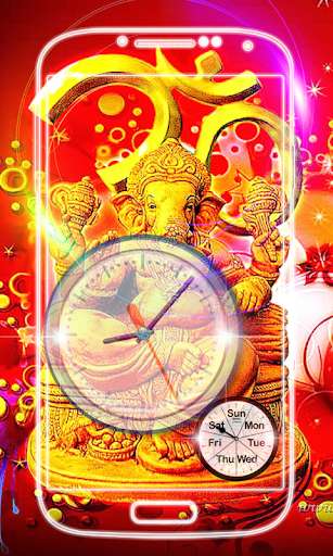 Ganesh Clock Live Wallpaper screenshot 4