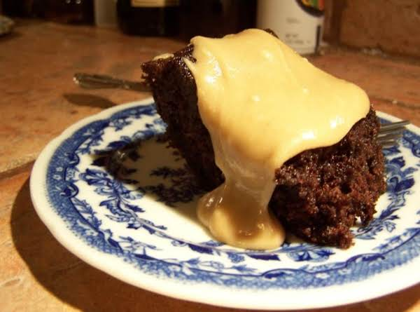 Chocolate Zucchini Cake With Caramel Frosting