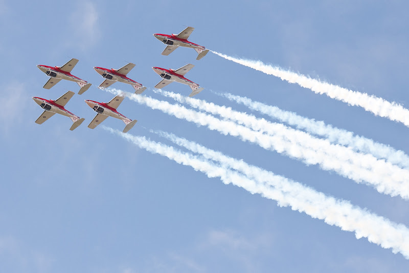 Photo: From the 2012 Waterloo Region air show. Another tight formation.
