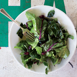 Hardy Greens with Lemon-Garlic Vinaigrette