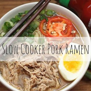 Slow Cooker Pork Ramen.