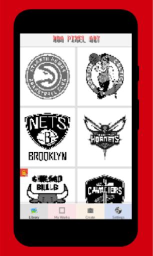 pixel art maker-Nba basket ball color by number 3.0 screenshots 1