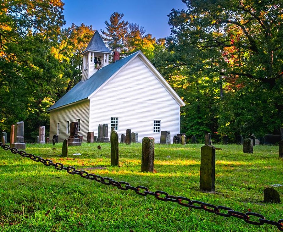 Cades Cove Baptist Church Tenn! by Charles Hardin - Buildings & Architecture Places of Worship