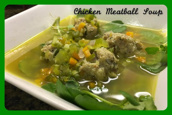 Watercress And Leek Soup With Chicken Meatballs Recipe