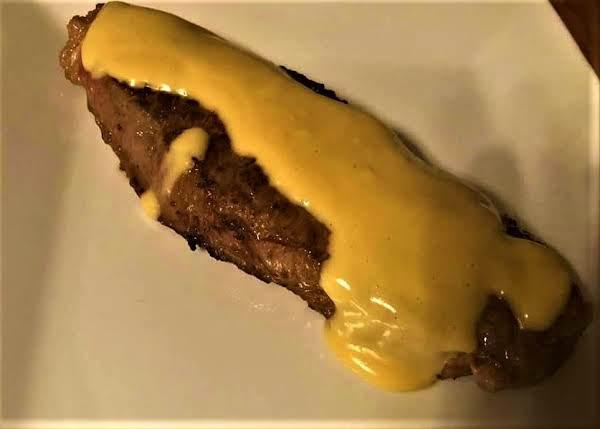 New York Strip Steak With Steak Sauce Hollandaise