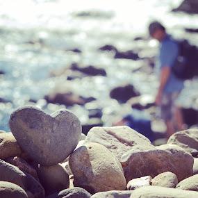 Rock Hard Love by Lorie Tannourji - Nature Up Close Rock & Stone ( love, heart, nature, rock, beach,  )