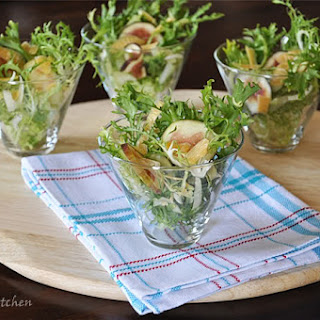 Frisée, Brown Turkey Figs, and Aged Gouda Cheese Salad