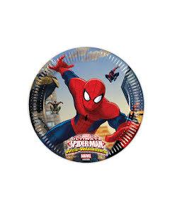 Spiderman Tallrik 20cm  8st.