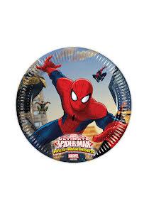 Spiderman tallrikar, 8 st