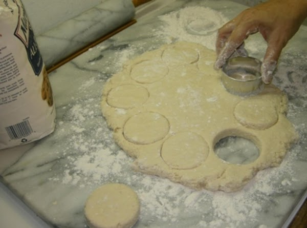 Roll out the biscuits to about an inch or more in thickness. Cut out...