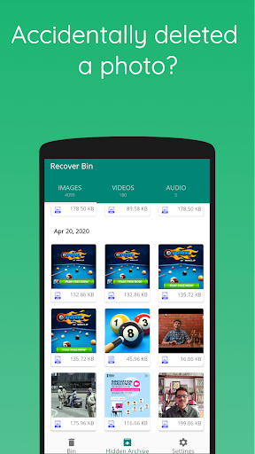Recover Bin Free: Trash for Android, Recover Files screenshot 1