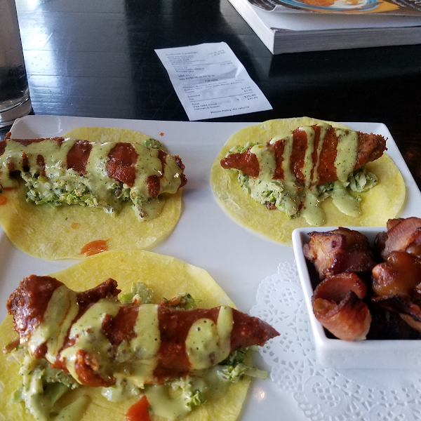 Chicken ranch wraps and bacon wrapped dates!