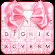 Glitter Pink Bow Keyboard Theme APK