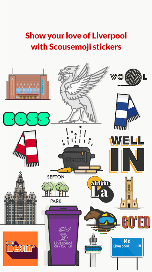 Scousemoji: Liverpool stickers- screenshot
